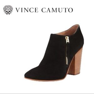 Vince Camuto   Palika Black Suede Ankle Boot - Size 7.5